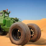Le tout premier pneu anti-mine du monde inventé par Michelin